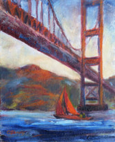 Golden Gate Bridge - San Francisco oil painting
