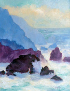 Bodega Bay Head - seascape oil painting