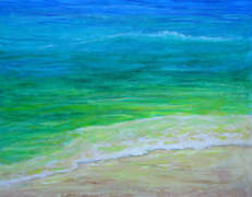 tropical sea acrylic painting